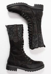 Pier One - Lace-up boots - black - 1