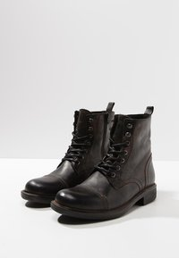 Pier One - Lace-up ankle boots - black barro - 2