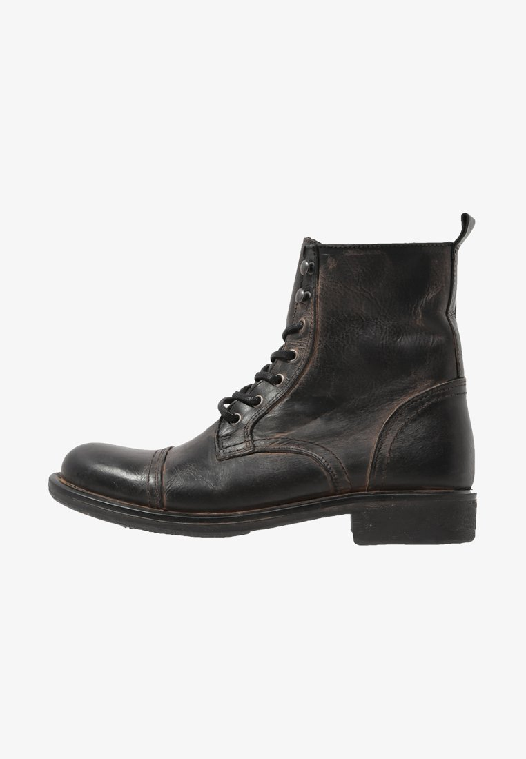 Pier One - Lace-up ankle boots - black barro