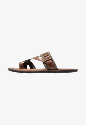 T-bar sandals - cognac
