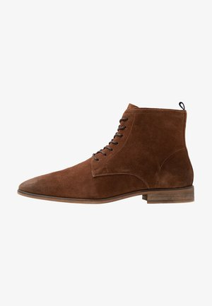 Lace-up ankle boots - light brown