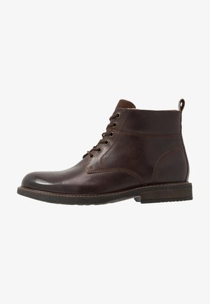 Schnürstiefelette - dark brown
