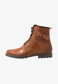 Pier One - Lace-up ankle boots - cognac - 0