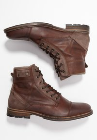 Pier One - Bottines à lacets - cognac - 1