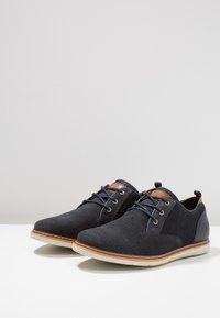 Pier One - Volnočasové šněrovací boty - dark blue - 2
