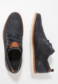 Pier One - Volnočasové šněrovací boty - dark blue - 1