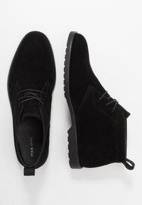 Pier One - Volnočasové šněrovací boty - black - 1