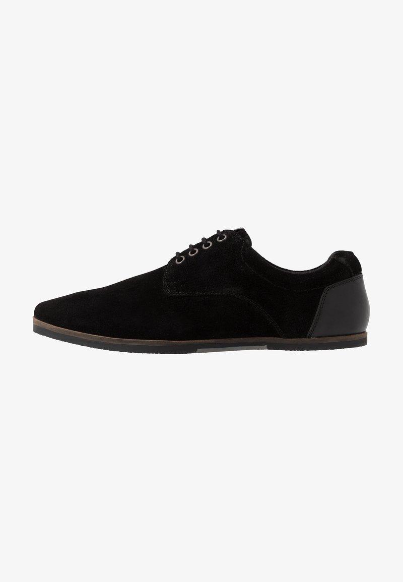 Pier One - Volnočasové šněrovací boty - black