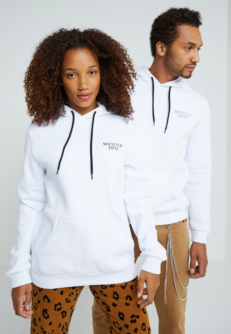 Pier One - UNISEX - Hoodie - white