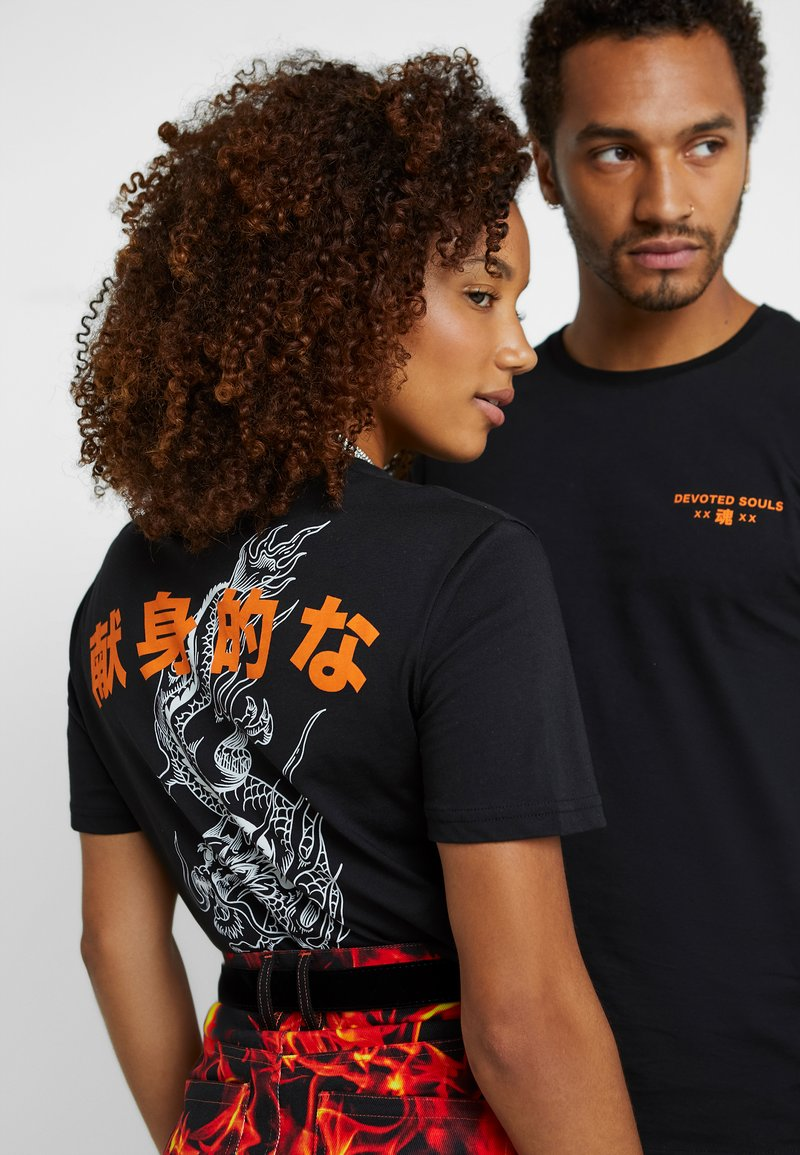 Pier One - UNISEX - T-shirts print - black