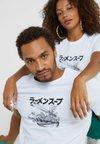 Pier One - UNISEX - Camiseta estampada - white