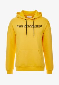 Pier One - UNISEX - Bluza z kapturem - yellow