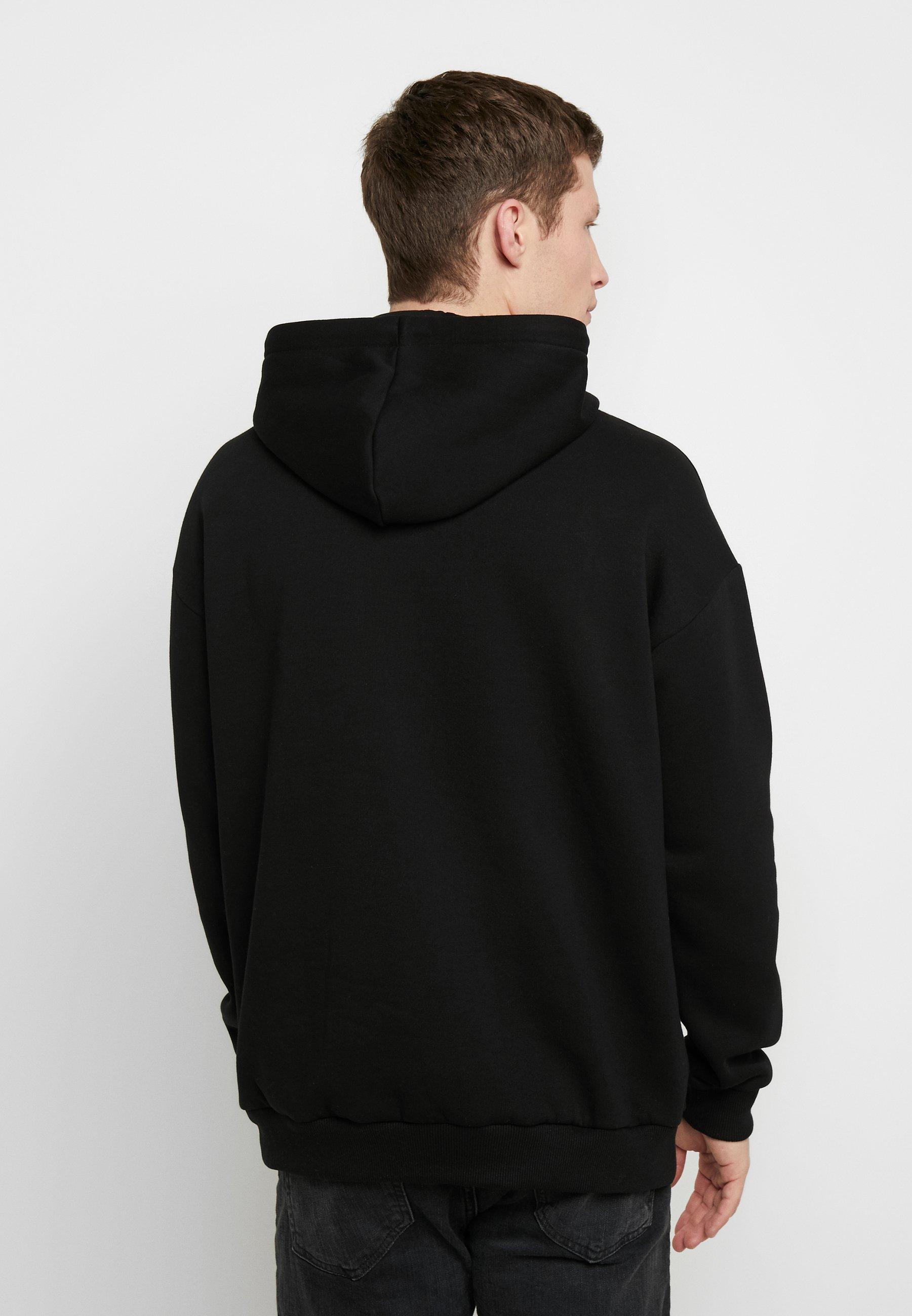 Pier One Bluza z kapturem - black