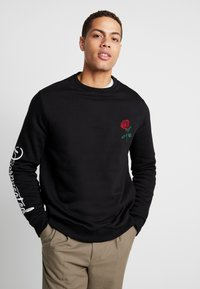 Pier One - ROSE EMBRO  - Felpa - black - 0