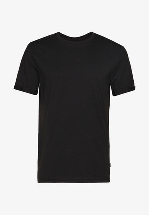 RELAXED ROLLUP SLEEVE  - Basic T-shirt - black