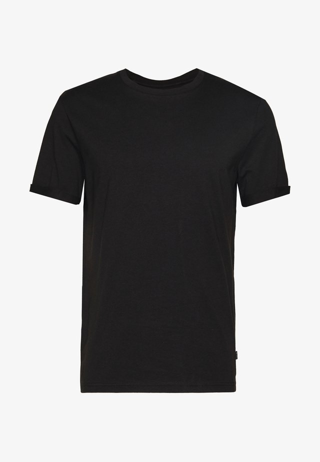 RELAXED ROLLUP SLEEVE  - T-Shirt basic - black