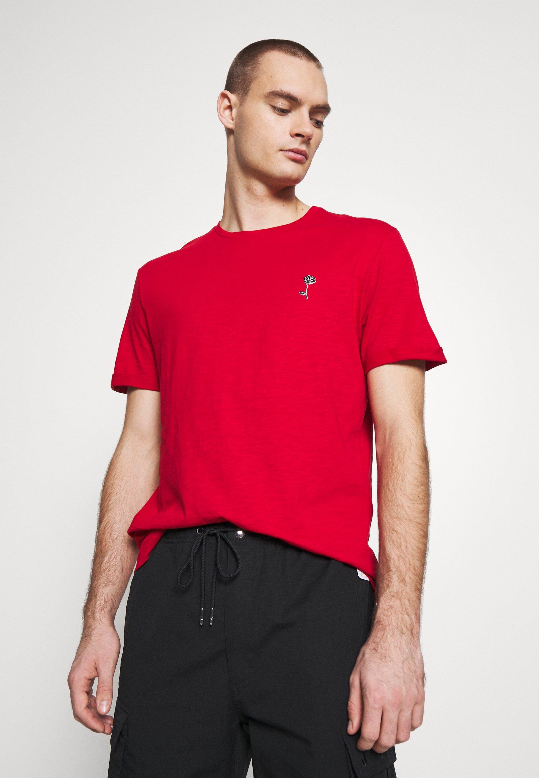 Pier One T-shirt z nadrukiem - red