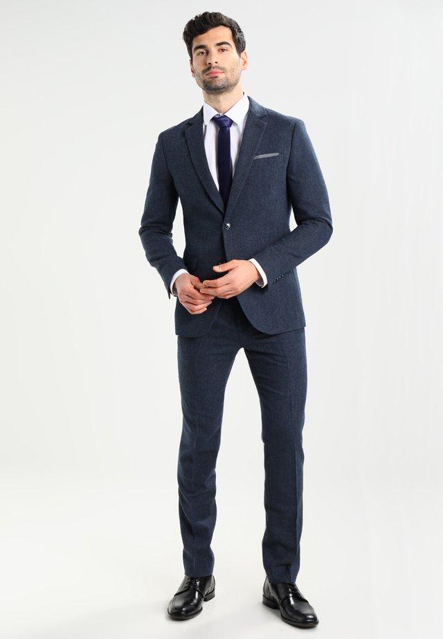Anzug - mottled dark blue