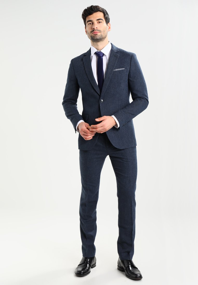 Pier One - Kostym - mottled dark blue
