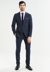 Pier One - Kostym - mottled dark blue - 1