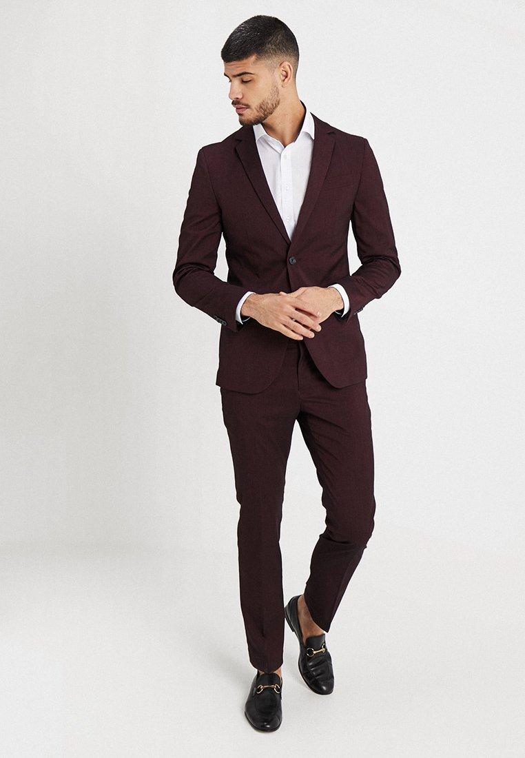 Pier One - Anzug - mottled bordeaux