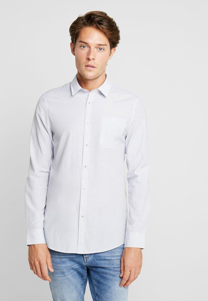 Pier One - Košile - white/dark blue