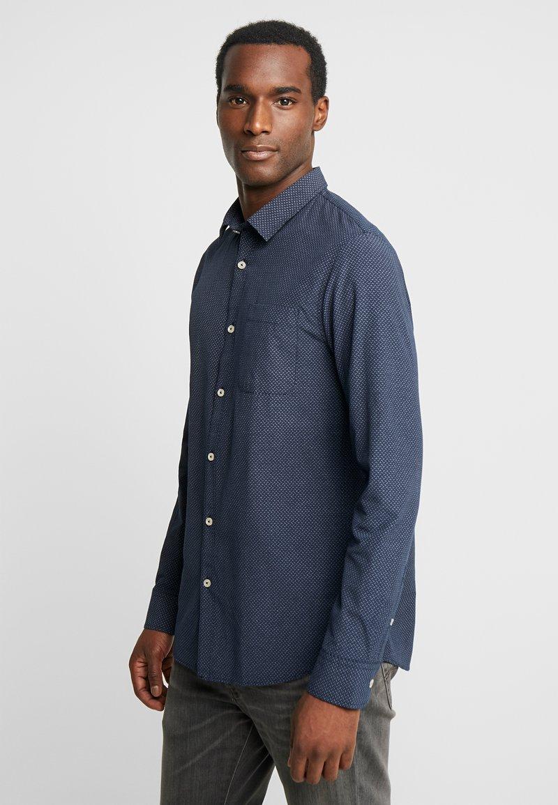 Pier One - Shirt - dark blue/white
