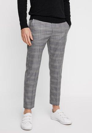 MELANGE CHECK TROUSER - Kalhoty - mottled grey