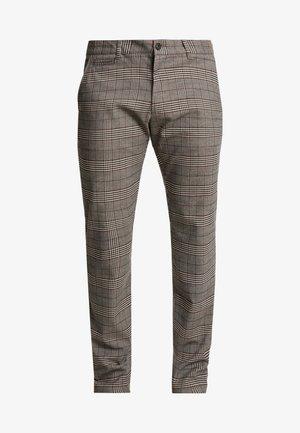 Pantalon classique - mottled brown