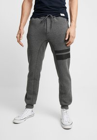 Pier One - Pantalon de survêtement - mottled dark grey - 0