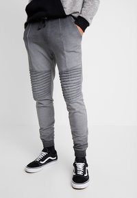 Pier One - WASHED BIKER  - Teplákové kalhoty - grey - 0
