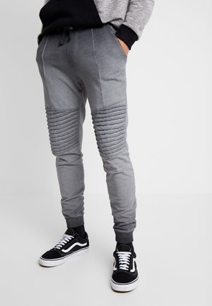 WASHED BIKER  - Pantalon de survêtement - grey
