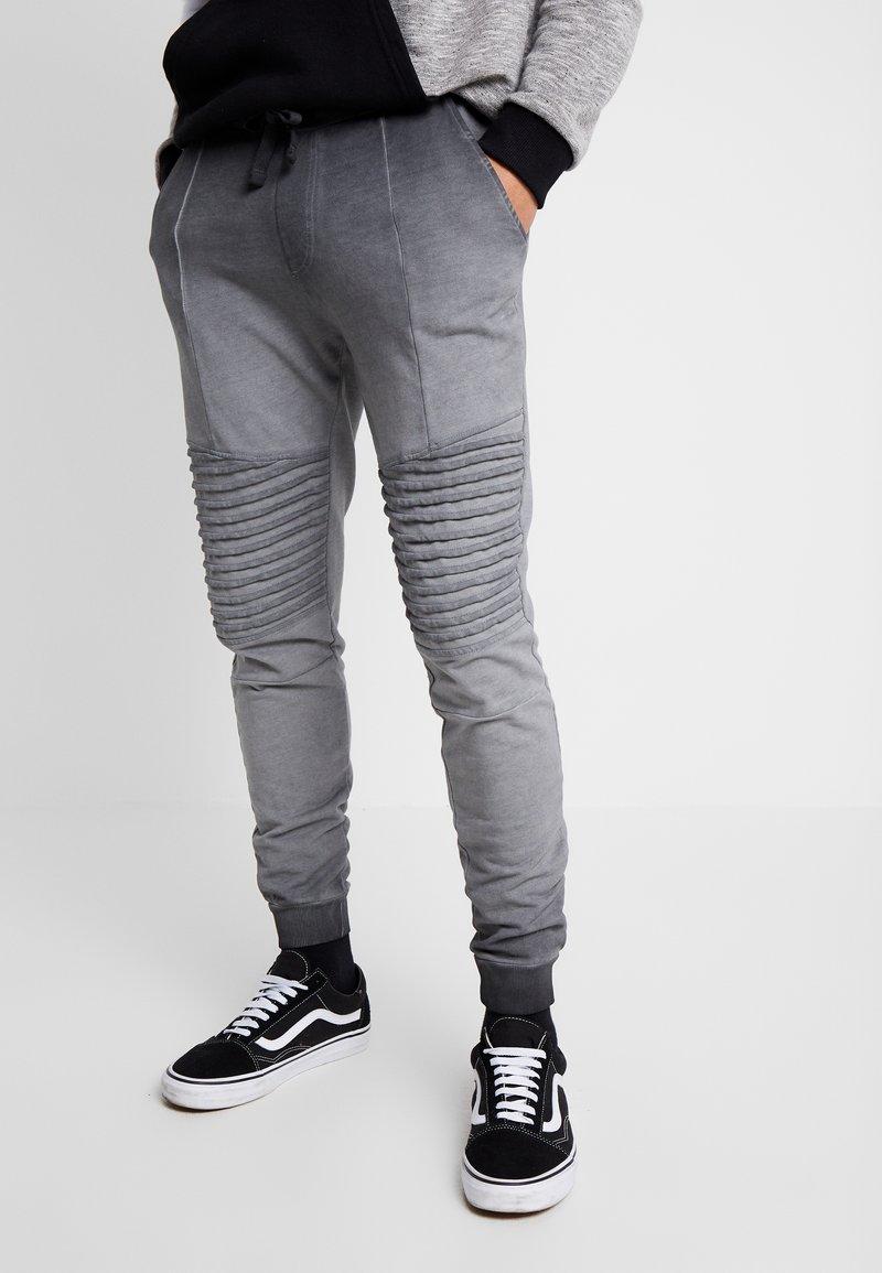 Pier One - WASHED BIKER  - Teplákové kalhoty - grey