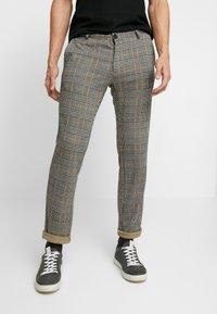Pier One - Spodnie materiałowe - black/yellow - 0
