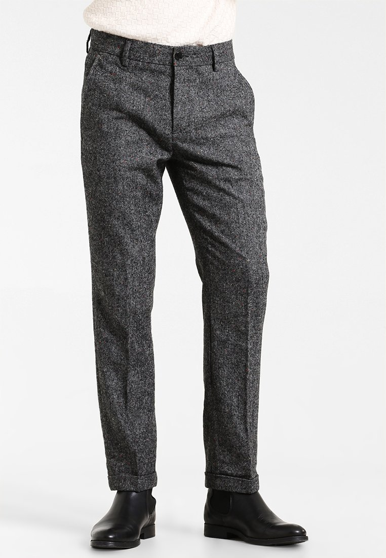 Pier One - NEP PANTS - Trousers - mottled grey