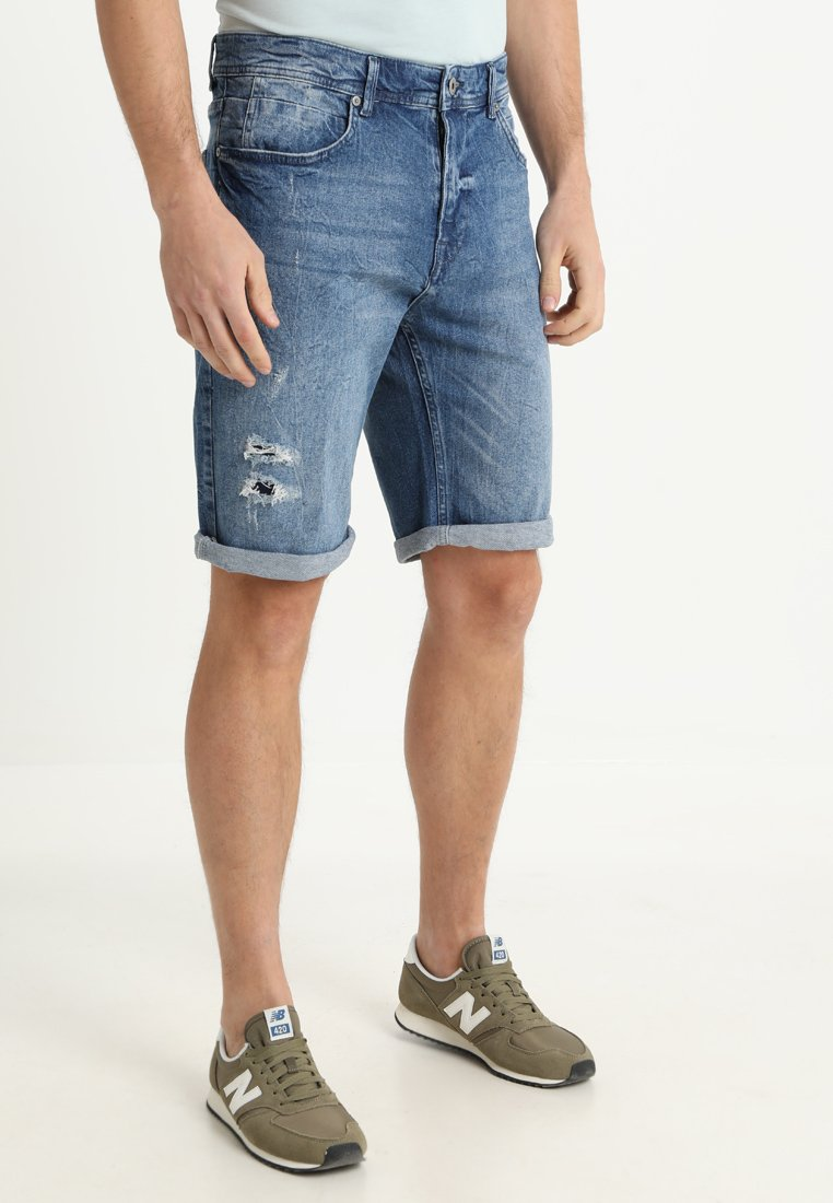 Pier One - Denim shorts - blue denim