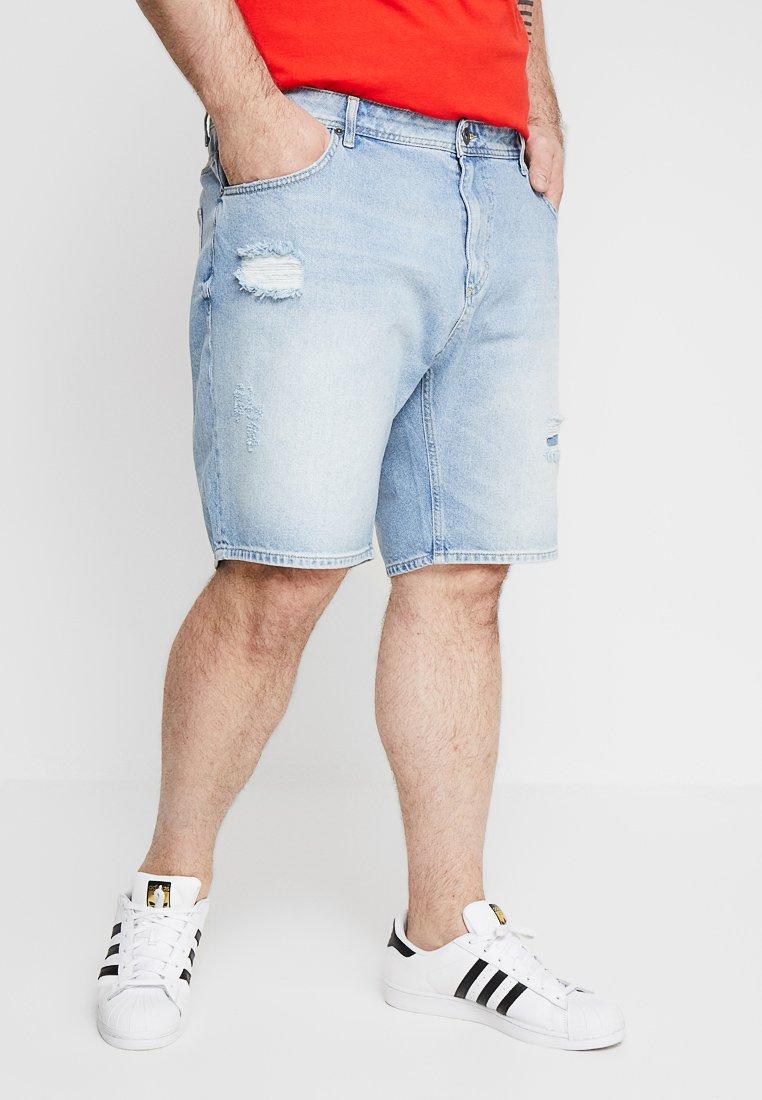 Pier One - Jeans Shorts - blue denim