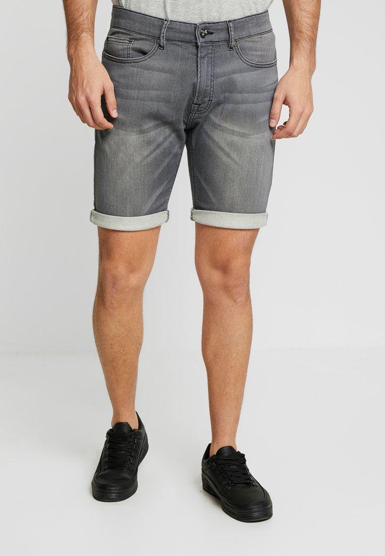 Pier One - Jeans Shorts - grey denim