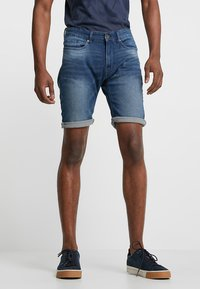 Pier One - Szorty jeansowe - blue denim - 0