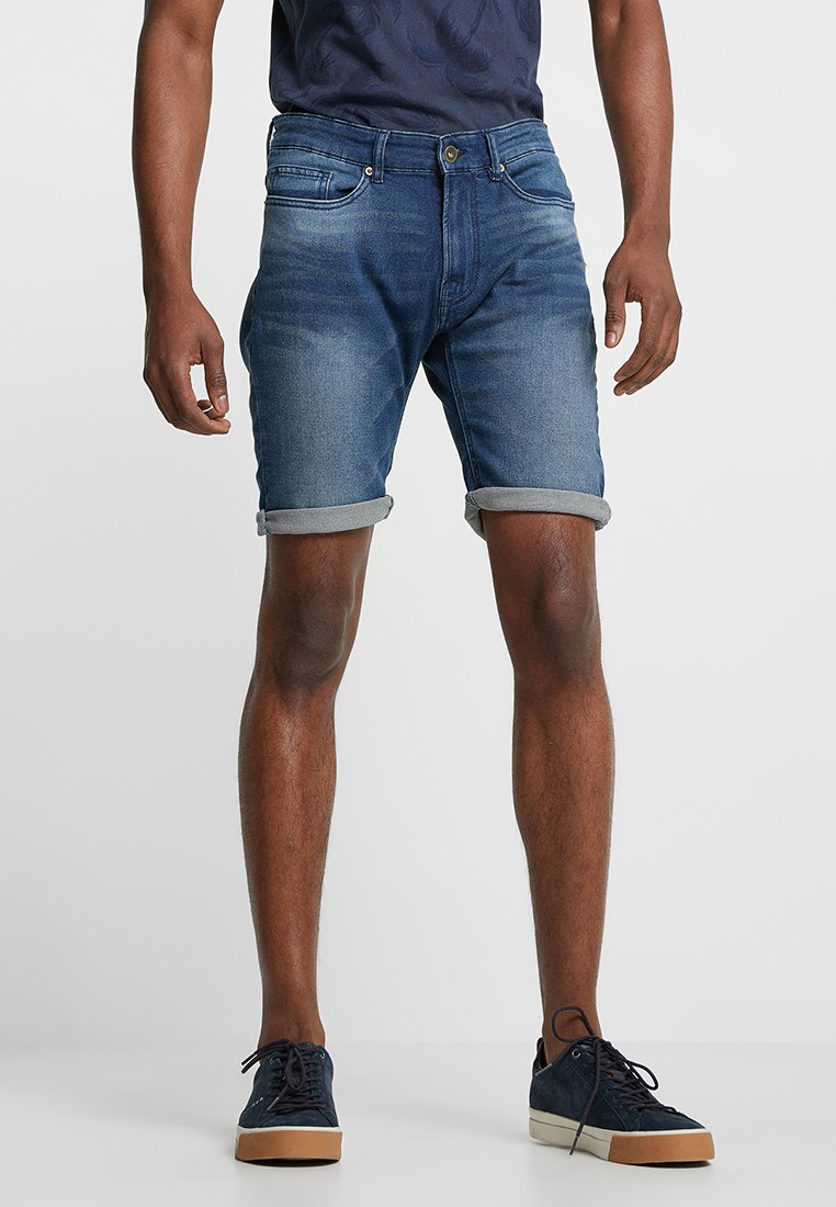 Pier One - Szorty jeansowe - blue denim
