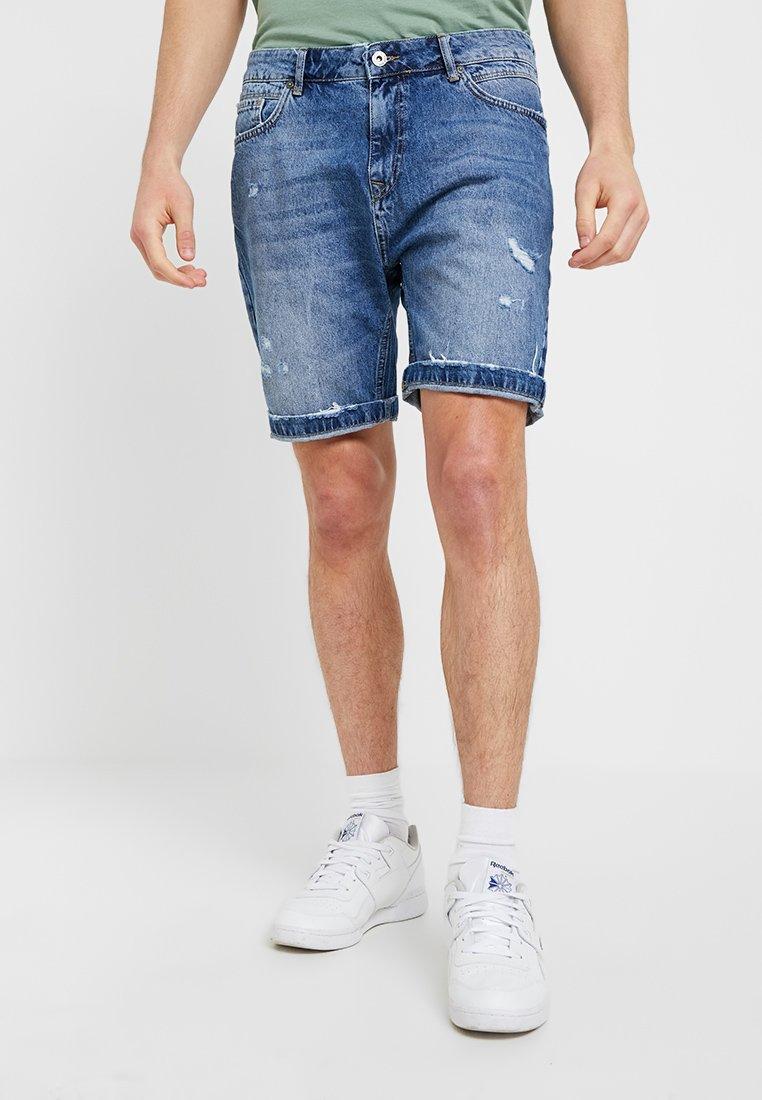 Pier One - Jeans Short / cowboy shorts - blue denim