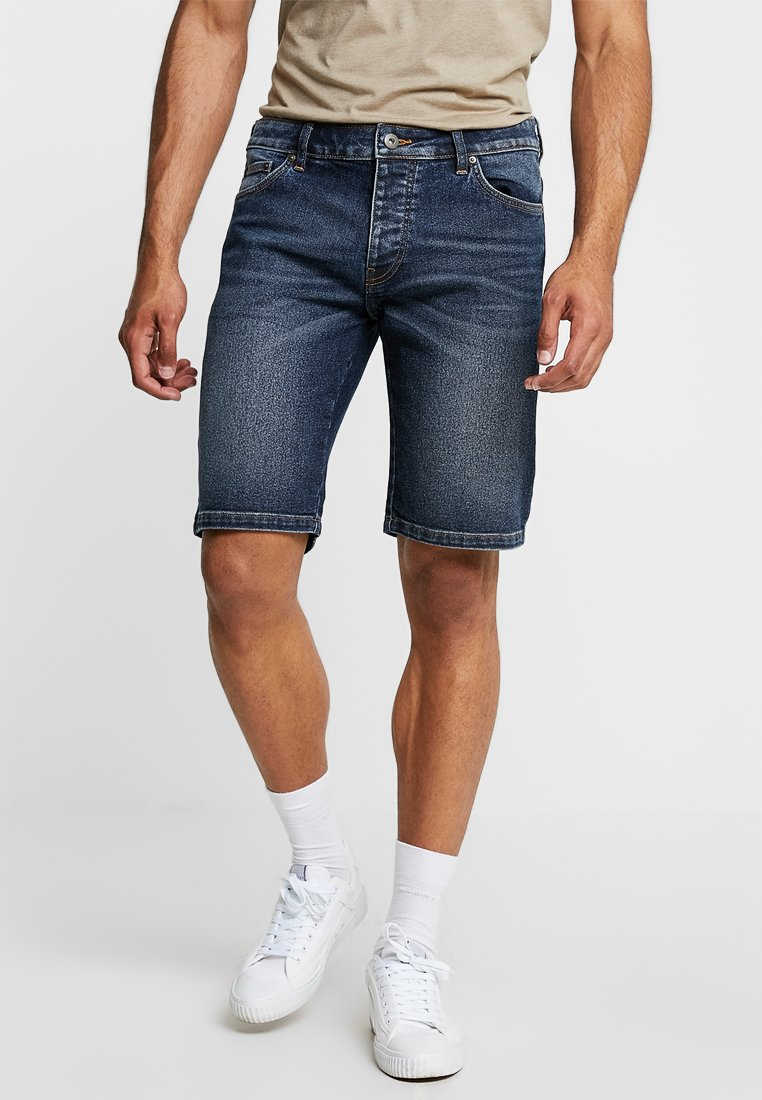 Pier One - Shorts vaqueros - dark blue denim
