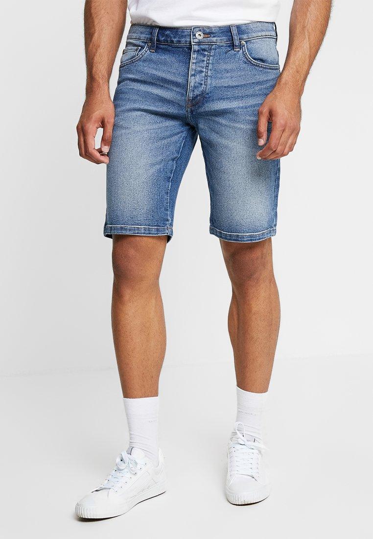 Pier One - Denim shorts - blue denim