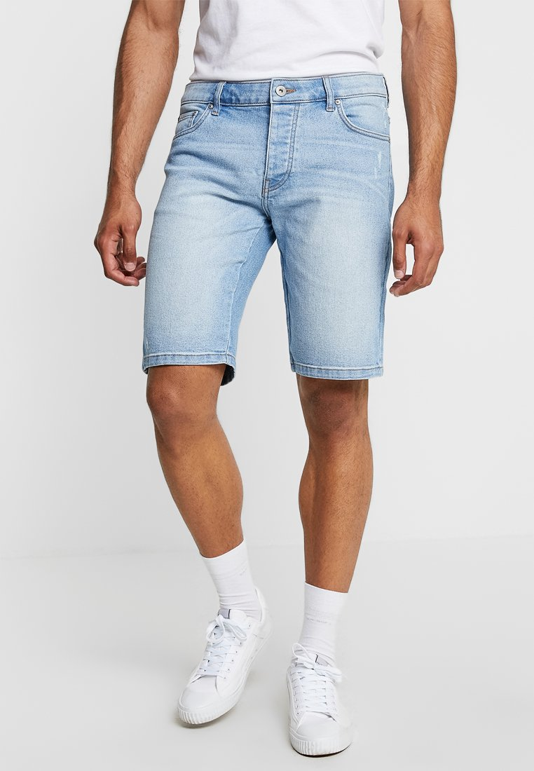 Pier One - Jeans Shorts - light blue