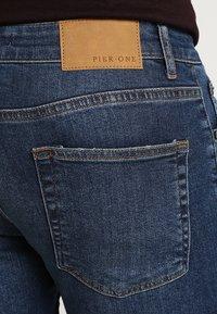 Pier One - Jeansy Slim Fit - blue denim - 5