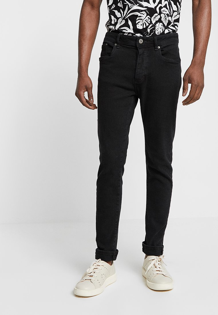 Pier One - Vaqueros slim fit - black