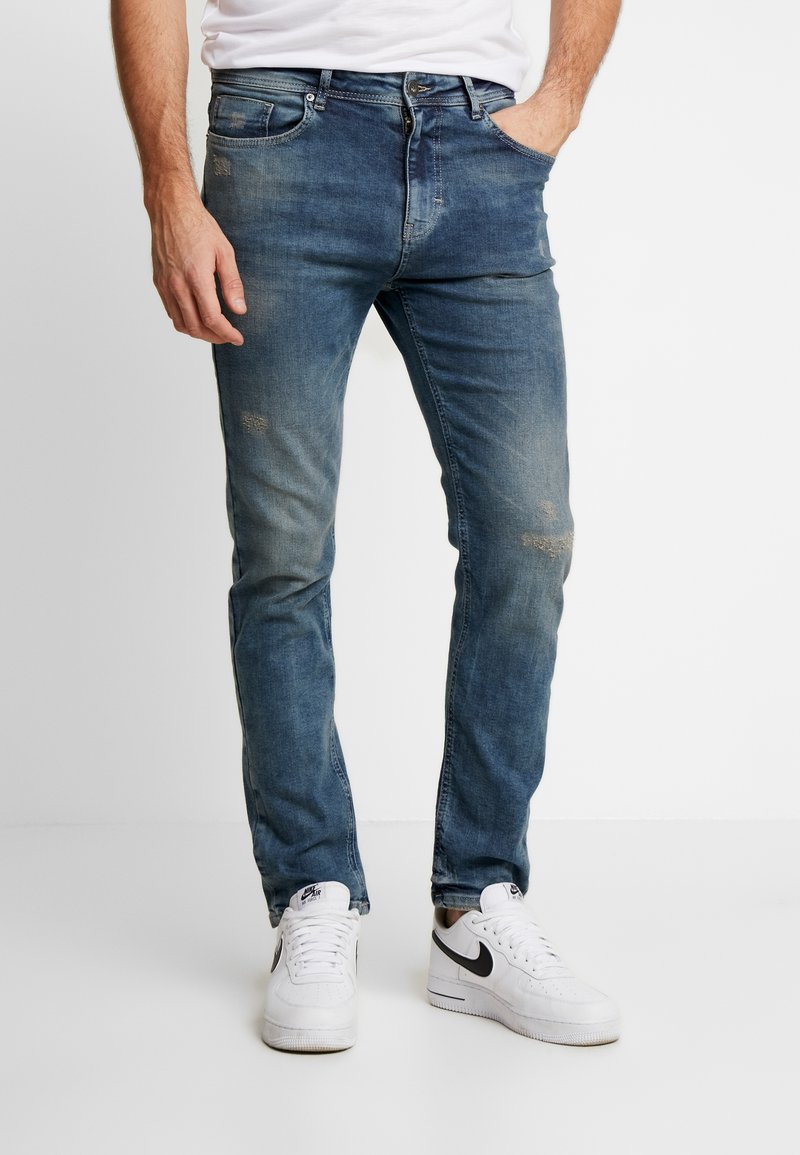 Pier One - Jeans Tapered Fit -  blue denim