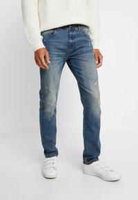 Pier One - Slim fit jeans - dirty denim - 0