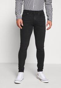 Pier One - Slim fit jeans - black denim - 0