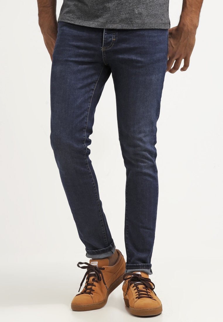 Pier One - Slim fit jeans - dark blue denim